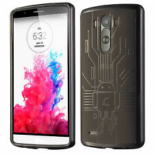 LG G3 Case, Cruzerlite USA Bugdroid Circuit TPU Back Cover for LG G3 -Imported