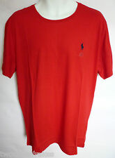 Ralph Lauren Polo Mens Custom Fit Small Pony Crew Neck T Shirt Tee Top Red New