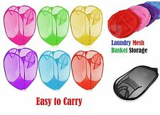 LAUNDRY BAG POP UP MESH WASHING FOLDABLE LAUNDRY BASKET BAG BIN STORAGE- lnmsh