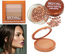 Royal Cosmetic Bronze Shimmer Pearls Powder Make Up Baked Highlighter Compact