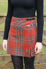 Ladies 100% Wool Isobel Billie Kilt Royal Stewart Weathered Tartan New