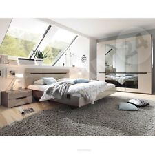 komplett schlafzimmer kansas hochglanz weiss schwarz mit bettkasten u lattenrost ebay. Black Bedroom Furniture Sets. Home Design Ideas