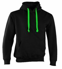 BLACK HOODIE BY CERTIFIED INSANE NEON GREEN CORD CONCEALED IPOD AND PHONE POCKET