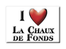 SWITZERLAND SCHWEIZ SOUVENIR FRIDGE MAGNET CUISNEOIR I LOVE LA CHAUX DE FONDS