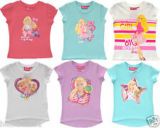 OFFICIAL FULLY LICENSED BARBIE SHORT SLEEVE TOP/T SHIRT VARIOUS DESIGNS 2 4 6 8Y