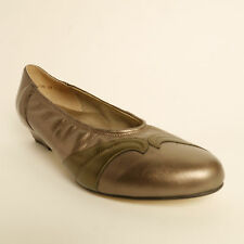 Equity Martha Leather Court Shoe Bronze Gold EE Fitting RRP £64.99