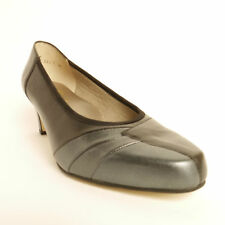 Equity Claire 2 Court Shoe Black/Pewter EEE Extra Wide Fitting Leather Uppers