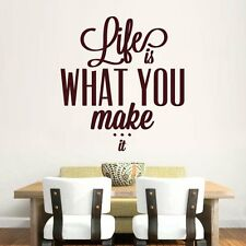 Hoopoe Decor Life Is What You Make It Wall Stickers & Decals(HDWS-0178BG)