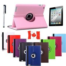 Leather Case Cover For Apple iPad  Smart Shockproof iPad Etui + Screen Protector