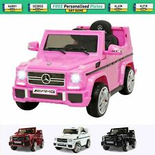 Mercedes G65 Kids Ride On Car 12V Battery Remote Control Toy Car Leather Seat