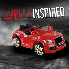 Kids Ride On Cars Audi TT Style Electric Childrens 6V Battery Parental Remote