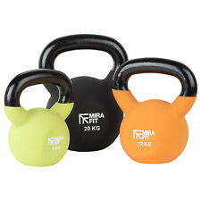 Mirafit Soft Touch Cast Iron Kettlebell Weight Gym Training/Lifting Kettle Bell