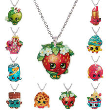 SHOPKINS Season 1 Necklaces, 10 Characters Yo-Chi,Cupcake Queen,Kooky Cookie etc