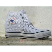 Scarpe Converse All Star Lux Mid Zeppa Pizzo 552697c sneakers donna White