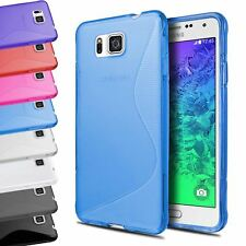 S-LINE CLEAR TRANSLUCENT TPU GEL BACK SOFT CASE COVER FOR SAMSUNG GALAXY ALPHA