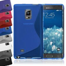 S-LINE CLEAR TRANSLUCENT TPU GEL SOFT CASE COVER FOR SAMSUNG GALAXY NOTE EDGE
