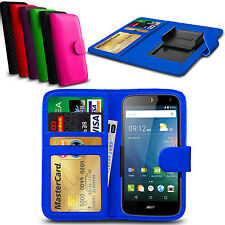 Clip On PU Leather Flip Wallet Book Case Cover For Lenovo Vibe P1