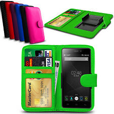 Clip On PU Leather Flip Wallet Book Case Cover For Doogee Y100 Pro