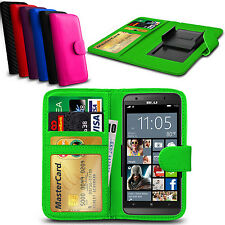 Clip On PU Leather Flip Wallet Book Case Cover For BLU Vivo 5