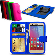 Clip On PU Leather Flip Wallet Book Case Cover For Huawei Ascend P7