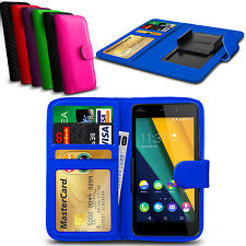 Clip On PU Leather Flip Wallet Book Case Cover For Wiko Sunset2