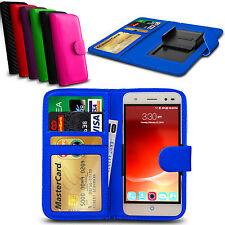 Clip On PU Leather Flip Wallet Book Case Cover For ZTE Blade D6