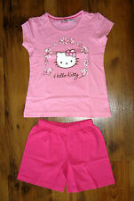 Hello Kitty Pyjama Shorty Set Gr. 110-116, 122-128 Schlafanzug Nachtwäsche rosa