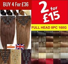 Real Thick Clip in Hair Extensions Full Head feel like own Hair 8 Pcs Long