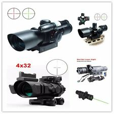 Tactical 2.5-10x40 Red&Green Hunting Rifle Green Laser Sight Dot Scope