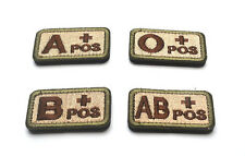 Wholesale Lots Sports Badges Blood Types A B O AB Embroidered Magic Patches New