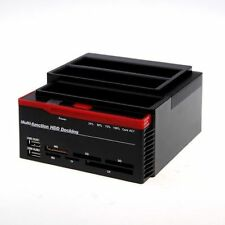 DOCKING STATION TRIPLE TRIPLE 3 HARD DISK 3,5 2,5 SATA HD BOX CASE CARD READER