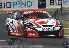 Mark Skaife Todd Kelly SIGNED 6x4 or 8x12 photo V8 Supercars HRT BATHURST 2004