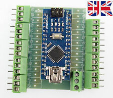 Arduino Nano V3.0 Compatible- ATmega328 CH340 Chip with screw terminal UK stock.