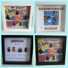 Personalised SUPERHERO Scrabble Photo Frame Daddy Grandad Fathers Day Gift