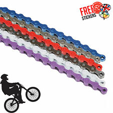 4 Gang 1/2×1/8″ MTB & BMX Chain 102 Link, 6 Colours! Single Speed Easy to Fit!