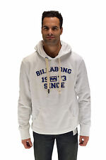 Felpa Bianca Billabong Locked Ho logo Billabong con Cappuccio