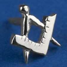 Masonic lapel pin SQUARE and COMPASS 1st degree silver