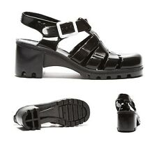 Womens JuJu Jellies Babe High Black Sandals RRP £24.99