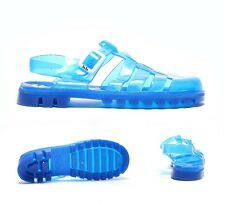Womens JuJu Jellies Maxi T-Bar UV Blue Sandals RRP £19.99