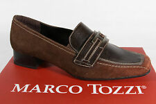 Marco Tozzi Slippers Court Shoes Faux leather brown NEW