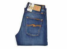 Nudie Steady Eddie, Jeans, Organic Whistle Blue, Blau, Baumwolle, 111568, Neu