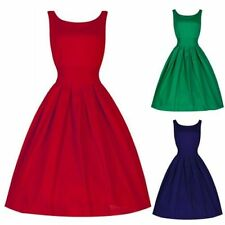 Ladies Women Vintage Style 1950's Retro Rockabilly Evening Party Swing Dress H40
