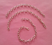 Silver Tone Link Bracelet for Charms - Make Your Own Charm Bracelet - 3 Sizes