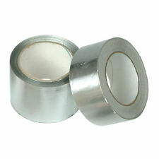 Aluminium Silver Foil Duct Tape Self Adhesive Heat Insulation 50mm or 75mm x 45m