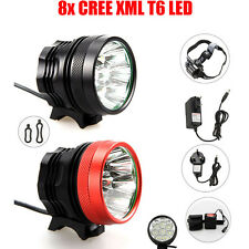 8XCREE XML T6 LED Bici Lampada 16000LM bicicletta frontale headlight headlamp