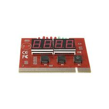 PC 4 Digit Code Diagnostic Analyzer Motherboard Tester PCI Card