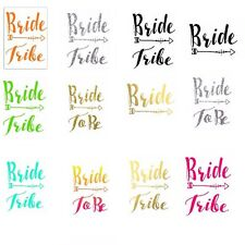 Bride Tribe Hen T-shirt Transfer DIY Iron on Free Postage Hen party BRIDE TO BE