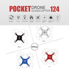 FQ777 124 RC Quadricottero 2.4G 4CH 6asse Gyro Pocket mini Drone Headless O9P3