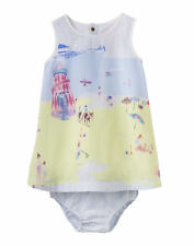 Joules Baby Woven Dress and Pant Set - Beach Border