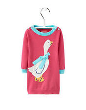 Joules Baby Knitted Intarsia Duck Dress - Warm Pink
